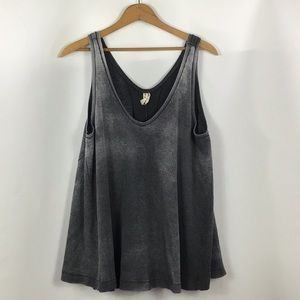 We The Free Waffle Knit Thermal Swing Tank L